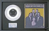 "THE PLATTERS -7""PlatinumDisc & song sheet - SMOKE GETS IN YOUR EYES"
